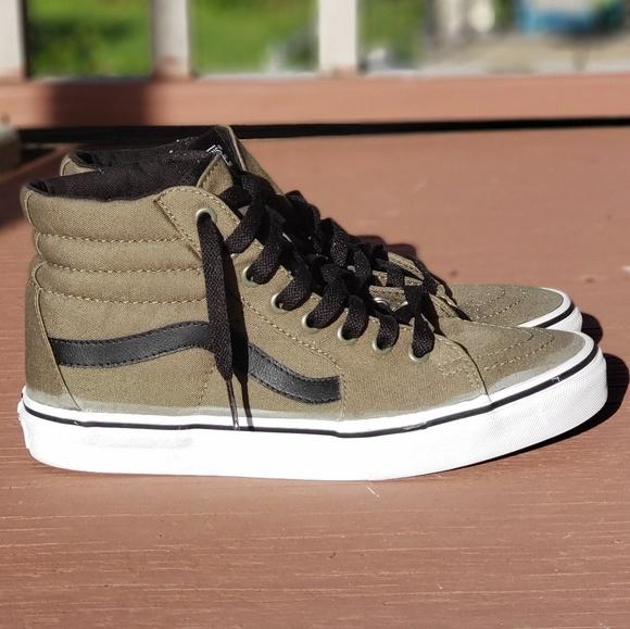 Vans Shoes | Army Green Hi Top Vans